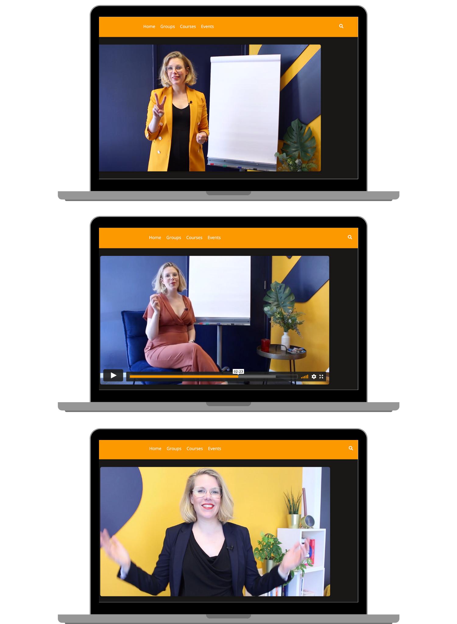 Stage Heroes website image online presentation training online presenting